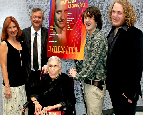 Kevin Bright at the opening of the Bright Family Screening Room. 2010 with family members