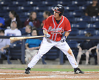 10 April 2008: Outfielder Mark Jurich (16) of the Mississippi Braves, Class AA affiliate of the Atlanta Braves, in a game against the Mobile BayBears at Trustmark Park in Pearl, Miss. Photo by:  Tom Priddy/Four Seam Images