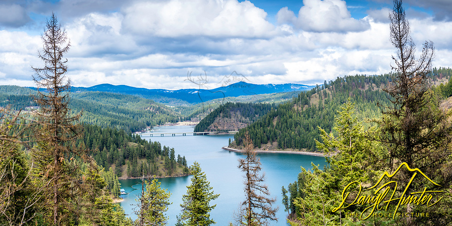 Huge 2X1panoramic image of Coeur d'Alene Lake. This image can be printed nine feet wide by 4.5 foot tall.
