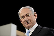 Washington, DC - March 4, 2014:  Israeli Prime Minister Benjamin Netanyahu addresses attendees of the AIPAC Policy Conference March 4, 2014.   (Photo by Don Baxter/Media Images International)