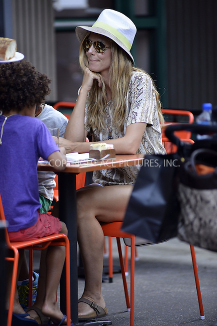 WWW.ACEPIXS.COM<br /> <br /> <br /> June 24 2103, New York City<br /> <br /> Heidi Klum and her family have lunch at Bar Pitti on June 24 2013 in New York City<br /> <br /> By Line: Curtis Means/ACE Pictures<br /> <br /> <br /> ACE Pictures, Inc.<br /> tel: 646 769 0430<br /> Email: info@acepixs.com<br /> www.acepixs.com