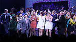 Jeff Richmond, Tina Fey and Casey Nicholaw with cast during the Broadway Opening Night Performance Curtain Call of 'Mean Girls' at the August Wilson Theatre on April 8, 2018 in New York City.