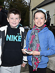Cian and Katie Wogan pictured at the Termonfeckin duck race. Photo:Colin Bell/pressphotos.ie