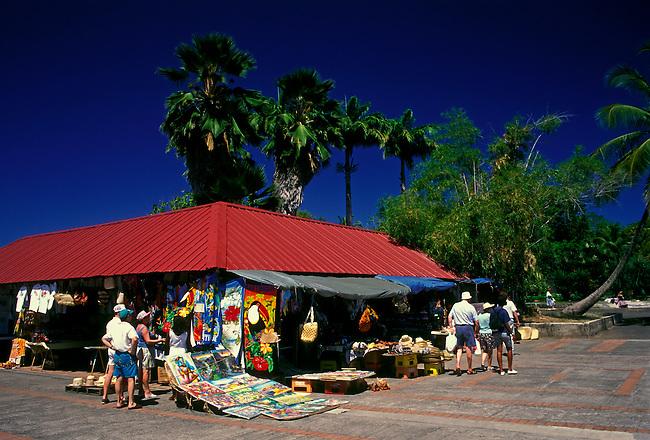 Craft market at Place de la Savane, Fort de France, Martinique, French West Indies