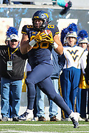 Morgantown, WV - November 10, 2018: West Virginia Mountaineers tight end Trevon Wesco (88) catches a pass during the game between TCU and WVU at  Mountaineer Field at Milan Puskar Stadium in Morgantown, WV.  (Photo by Elliott Brown/Media Images International)