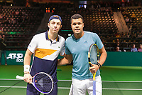 Rotterdam, The Netherlands, 14 Februari 2019, ABNAMRO World Tennis Tournament, Ahoy, Jo-Wilfried Tsonga (FRA) - Tallon Griekspoor (NED),<br /> Photo: www.tennisimages.com/Henk Koster