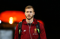 Ragnar Klavan of Liverpool arrives ahead of the Premier League match between Swansea City and Liverpool at the Liberty Stadium, Swansea, Wales on 22 January 2018. Photo by Mark Hawkins / PRiME Media Images.