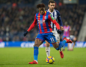 2nd December 2017, The Hawthorns, West Bromwich, England; EPL Premier League football, West Bromwich Albion versus Crystal Palace; Wilfred Zaha of Crystal Palace on the attack with the ball as he leaves Hal Robson Kanu of West Bromwich Albion behind