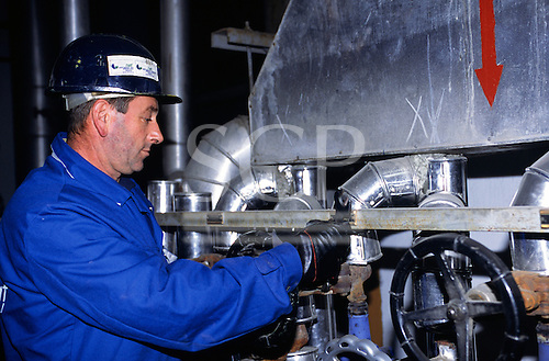 Bosnia and Herzegovina. Termoelektrana - Kakanj/Elektroprivreda BiH; man working.