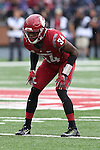Jalen Thompson, Washington State University cornerback, dials in on a receiver to the Cougars non-conference game against their neighbors from the University of Idaho on September 17, 2016.   The Cougs defeated the Vandals at Martin Stadium, 56-6.