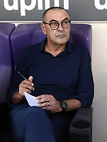 Calcio, Serie A: Fiorentina - Juventus, stadio Artemio Franchi Firenze 14 settembre 2019<br /> Juventus' coach Maurizio Sarri prior to the  the Italian Serie A football match between Fiorentina and Juventus at Florence's Artemio Franchi stadium, September 14, 2019. <br /> UPDATE IMAGES PRESS/Isabella Bonotto