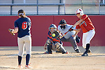 MADISON, WI - APRIL 17: Ricci Robben #7 of the Wisconsin Badgers softball team hits the ball against the University of Illinois-Chicago at Goodman Diamond on April 17, 2007 in Madison, Wisconsin. (Photo by David Stluka)
