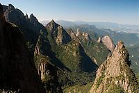 Parque Nacional da Serra dos Órgãos ( Serra dos Orgaos National Park ), Rio de Janeiro State, Brazil. Pico Dedo de Deus ( mountain ) and Atlantic rain forest.