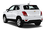 Car pictures of rear three quarter view of a 2019 Chevrolet Trax LS 5 Door SUV angular rear