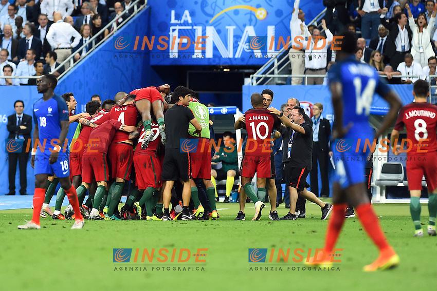 Esultanza Gol Eder (Portugal) goal celebration<br /> Paris 10-07-2016 Stade de France Football Euro2016 Portugal - France / Portogallo - Francia Finale / Final<br /> Foto Massimo Insabato / Insidefoto