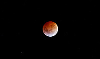 A eclipse that is being called a 'Super Blood Wolf Moon' is seen from Copacabana, Antioquia, Colombia January 20, 2019. VIEWPRESS/Fredy Builes