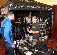 Ironman Partner Village, vendors, setup and logistics the day before the Ironman competition, Saturday, September 12, 2015 in Madison Wisconsin
