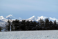 Carrauntoohill Mountain in Snow viewed from Aghadoe, Killarney.<br /> Photo Don MacMonagle