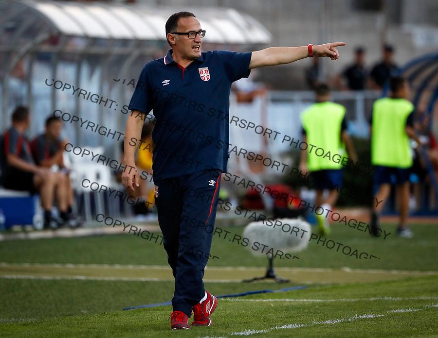 Fudbal Soccer<br /> Reprezentacija Srbije U21<br /> Kvalifikacije za U21 EURO 2019<br /> Srbija U21 v Gibraltar U21<br /> head coach Goran Djorovic<br /> Jagodina, 09.01.2017.<br /> foto: Srdjan Stevanovic/Starsportphoto &copy;