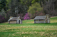 Encampment cabins at Vally Forge National Historic Park, Pennsylvania, USA