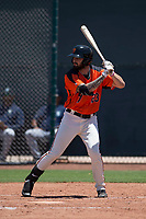 San Francisco Giants Orange outfielder Frankie Tostado (23) at bat during an Extended Spring Training game against the Seattle Mariners at the San Francisco Giants Training Complex on May 28, 2018 in Scottsdale, Arizona. (Zachary Lucy/Four Seam Images)