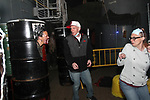 Crewmember greets guest at the Ghost Ship Harbor Haunted House tour aboard Quincy's USS Salem.  (Photo by Gary Wilcox)