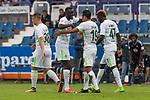 16.07.2017, Stadion an der Bremer Bruecke, Osnabrueck, GER, FSP VfL Osnabrueck vs SV Werder Bremen<br /> <br /> im Bild<br /> Torjubel zum 0:3, Yuning Zhang (Neuzugang SV Werder Bremen #19) bejubelt seinen Treffer zum 0:3 mit Lamine San&eacute; / Sane (Werder Bremen #26), <br /> <br /> Foto &copy; nordphoto / Ewert