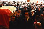 &copy;www.agencepeps.be/ F.Andrieu-Alain Rolland www.imagebuzz.be<br /> France - Lille - 130613 - Fun&eacute;raille Pierre Mauroy maire de la ville et ancien ministre, en pr&eacute;sence de Martine Aubry - Jean-Marc Ayrault