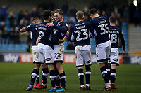 Aiden O'Brien celebrates scoring Millwall's first goal with Lee Gregory during Millwall vs Preston North End, Sky Bet EFL Championship Football at The Den on 13th January 2018