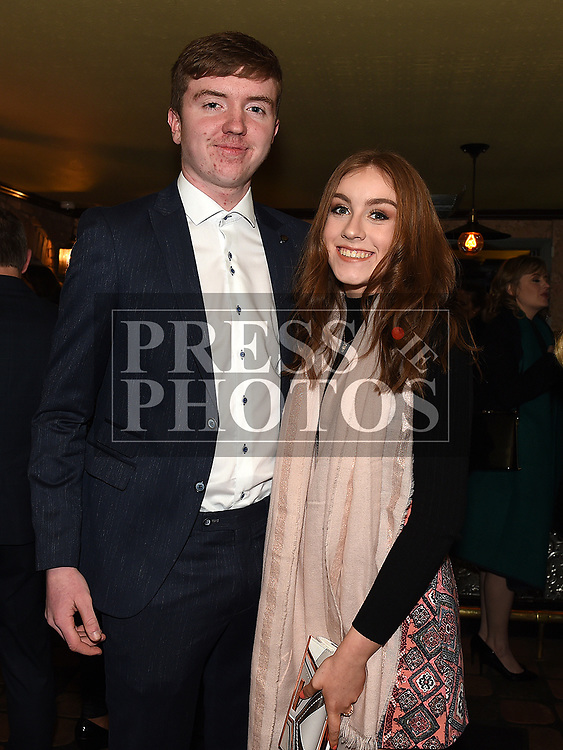 James McGillick and Jasmin Carroll at St Mary's GFC awards dinner in Muldoons. Photo:Colin Bell/pressphotos.ie