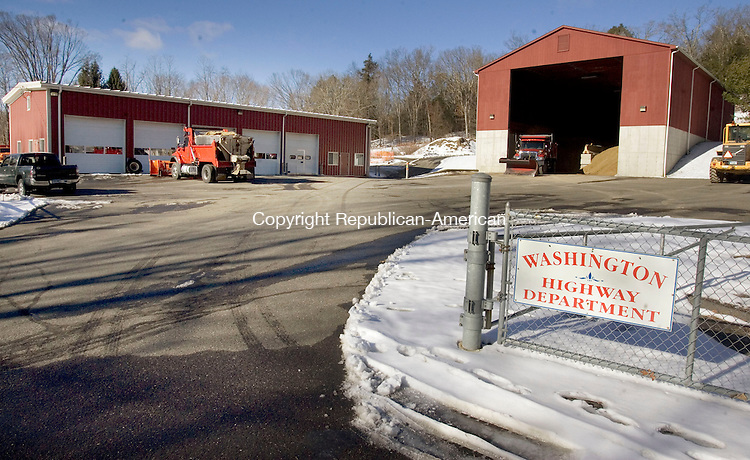 WASHINGTON, CT. 28 December 2012-122812SV04-The town garage at 10 Blackville Road in Washington Friday. Town officials in Washington will entertain a suggestion from a local architect to explore options for using the property where a town garage burned down in May. .Steven Valenti Republican-American