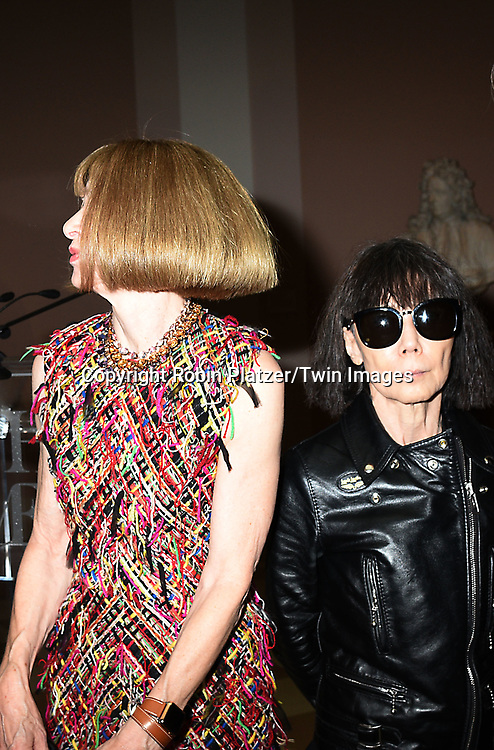 Anna Wintour and Rei Kawakubo attend the Press Preview of Rei Kawakubo/Comme des Garcons: Art of the In-Between exhibit at The Costume Institute at the Metropolitan Museum of Art on May 1, 2017 in New York, New York, USA. <br /> <br /> photo by Robin Platzer/Twin Images<br />  <br /> phone number 212-935-0770