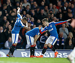 James Tavernier celebrates his opener with Barrie McKay
