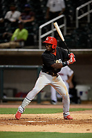 Chattanooga Lookouts Taylor Trammell (7) at bat during a Southern League game against the Birmingham Barons on May 1, 2019 at Regions Field in Birmingham, Alabama.  Chattanooga defeated Birmingham 5-0.  (Mike Janes/Four Seam Images)