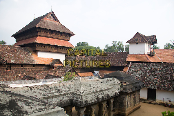 A building in Padmanabhapuram Palace, Padmanabhapuram, near Thuckalay, Tamil Nadu, India