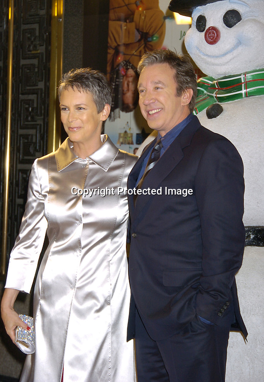 "Jamie Lee Curtis and Tim Allen ..at the World Premiere of ""Christmas with the Kranks"" on ..November 15, 2004 at Radio City Music Hall...Photo by Robin Platzer, Twin Images"