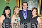 Martina Daly, Joanie McAulliffe, Roy Henderson and Pauline O'Connor having a ball at the Kiskeam GAA social in the Dromhall Hotel Killarney on Saturday night..