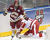 Dan Bertram, Tom Gilbert - The University of Wisconsin Badgers defeated the Boston College Eagles 2-1 on Saturday, April 8, 2006, at the Bradley Center in Milwaukee, Wisconsin in the 2006 Frozen Four Final to take the national Title.