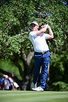 Bud Cauley (USA) watches his tee shot on 2 during round 4 of the Valero Texas Open, AT&amp;T Oaks Course, TPC San Antonio, San Antonio, Texas, USA. 4/23/2017.<br /> Picture: Golffile | Ken Murray<br /> <br /> <br /> All photo usage must carry mandatory copyright credit (&copy; Golffile | Ken Murray)