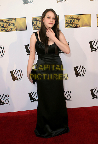 KAT DENNINGS.11th Annual Critics' Choice Awards - Arrivals held at Santa Monica Civic Auditorium, Santa Monica, California..January 9th, 2006.Photo: Zach Lipp/AdMedia/Capital Pictures.Ref: ZL/ADM.full length black dress.www.capitalpictures.com.sales@capitalpictures.com.© Capital Pictures.