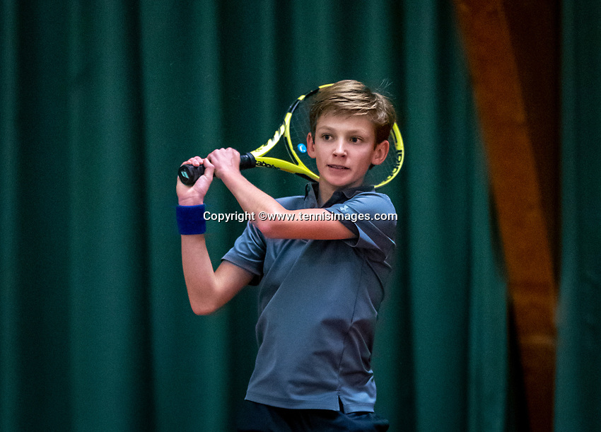 Wateringen, The Netherlands, December 4,  2019, De Rhijenhof , NOJK 14 and18 years, Bas Bouwman (NED)<br /> Photo: www.tennisimages.com/Henk Koster