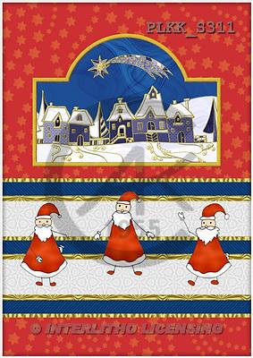 Kris, CHRISTMAS SANTA, SNOWMAN, paintings, PLKKS311,#X# Weihnachtsmänner, Schneemänner, Weihnachen, Papá Noel, muñecos de nieve, Navidad, illustrations, pinturas