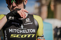 Luke Durbridge (AUS/Mitchelton-Scott) showing some scars sustained 'en route'<br /> <br /> Stage 6: Cassino to San Giovanni Rotondo (233km)<br /> 102nd Giro d'Italia 2019<br /> <br /> ©kramon