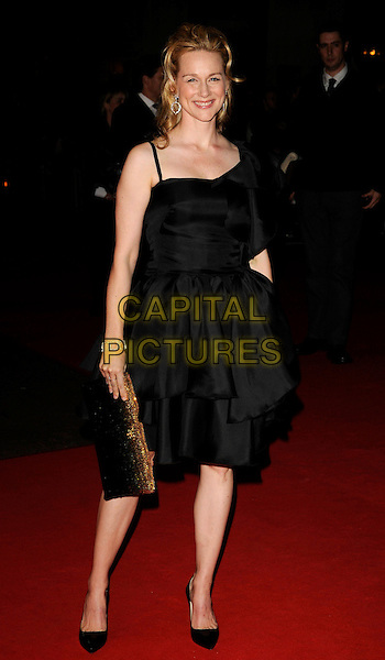 "LAURA LINNEY .""The Other Man"" Premiere during The Times BFF London Film Festival, odeon Leicester Square, London, England, UK, .October 17th 2008..red carpet full length black dress shoes brown bronze clutch bag .CAP/CAN.©Can Nguyen/Capital Pictures"