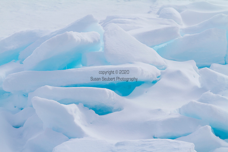 Details of the Ice Flows in Arctic Svalbard, Norway