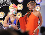 Nicki Minaj and Beyonce Knowles at The 2011 MTV Video Music Awards held at Nokia Theatre L.A. Live in Los Angeles, California on August 28,2011                                                                   Copyright 2011  DVS / Hollywood Press Agency