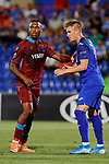 Raul Garcia of Getafe CF and Anthony Nwakaeme of Trabzonspor during UEFA Europa League match between Getafe CF and Trabzonspor at Coliseum Alfonso Perez in Getafe, Spain. September 19, 2019. (ALTERPHOTOS/A. Perez Meca)