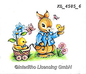 EASTER, OSTERN, PASCUA, paintings+++++,KL4585/6,#e#, EVERYDAY ,rabbit,rabbits ,sticker,stickers,