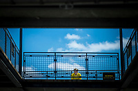 Verizon IndyCar Series<br /> Indianapolis 500 Practice<br /> Indianapolis Motor Speedway, Indianapolis, IN USA<br /> Tuesday 16 May 2017<br /> A &quot;Yellow Shirt&quot; keeping an eye on Gasoline Alley<br /> World Copyright: F. Peirce Williams