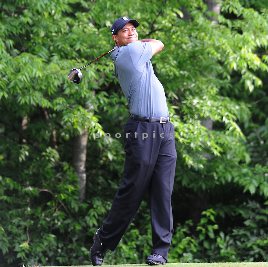 TIGER WOODS, during a practice round of the Quail Hollow Championship, on April 28, 2009 in Charlotte, NC.